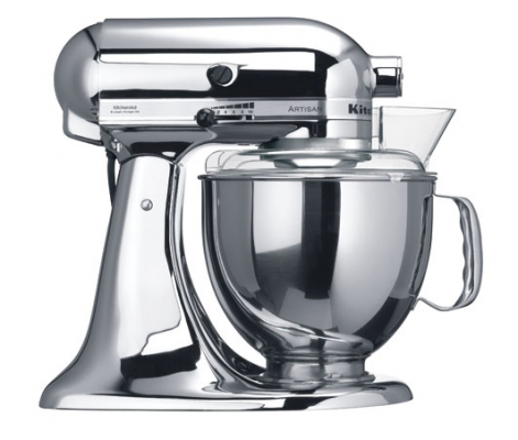 Миксер KitchenAid Artisan 4,8л хром 5KSM150PSECR